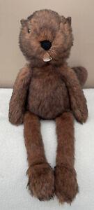 Jellycat  Woodlander Beaver Soft Toy Comforter Brown Long Legs Wilderness