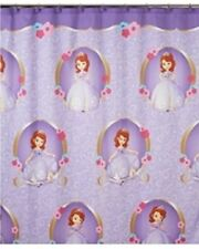 "NEW SOFIA THE FIRST SHOWER CURTAIN PURPLE FABRIC POLYESTER 72"" x 72"""