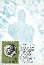 B3074 Maximum card Cartes Maximum Romania Decebal leader Statue  front/back scan