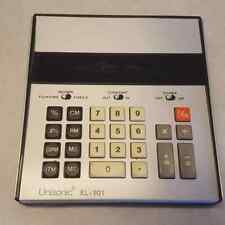 Unisonic XL-101 Calculator 10 Digit Desktop Electronic with Cover Vintage Works