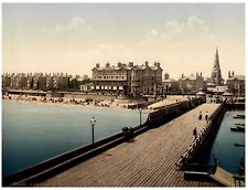 Lowestoft. Royal Hotel from Pier.  PZ vintage photochromie,  photochromie, vin