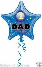 "DAD FATHERS DAY BIRTHDAY 18"" FOIL BALLOON no 1 dad star"