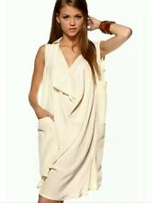 GESTUZ DESIGNER DRESS 100% silk kaftan ivory shirt tunic All Saints Style