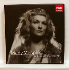 MADY MESPLÉ 80th anniversary edition DELIBES ROSSINI MASSENET - EMI 4xCDs NM