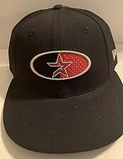 Houston Astros MLB New Era 59Fifty Fitted Black Low Profile Cap Size 7.5 8129b993582a