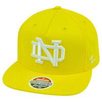 NCAA Notre Dame Fighting Irish Popsicle Zephyr Snapback Neon Yellow Flat Bill Ha