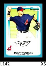 1-2011 BOWMAN PROSPECTS BLUE PARALLEL TONY WOLTERS INDIANS /500 CARD#BP98 QTY