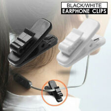 Clamps Cable Cord Clip Lapel Shirt Fixed Clamp Collar Headphone Earphone Clips