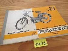 Peugeot CT VCT 1973 catálogo piezas adosadas spare piezas list ciclomotor