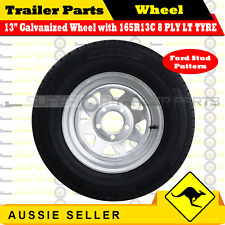 165R13C 8 PLY 13 inch Wheel Rim & Tyre Package (Ford Stud Pattern) TRAILERS
