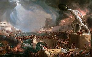 Thomas Cole - The Course of Empire Destruction 1836, Museum Art, Canvas Print