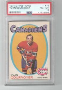 1971 OPC O-Pee-Chee # 15 Yvan Cournoyer HOF PSA 8 Montreal Canadiens