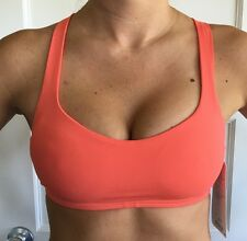 c76ca87bb8 Lululemon Size 4 Free To Be Bra Sports Top CAPE Orange FITNESS YOGA NWT