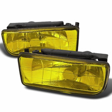 Pair of crystal YELLOW foglamps fog lights foglights fits BMW 3 series E36 all