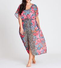 Plus Size Autograph Sheer Floral Maxi Kaftan - Dress Size 26 Free Post Aus Wide