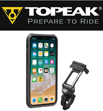 Topeak RideCase TT9855BG iPhone X 10 Smart Phone Holder Case & Bike Bar Mount