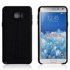 Custodia cover case Tpu gomma double line NERO per Samsung Galaxy Note 5
