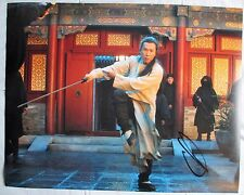 DONNIE YEN SIGNED 11x14 INCH PHOTO DC/COA (CROUCHING TIGER HIDDEN DRAGON) PROOF