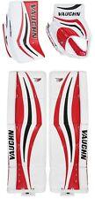 """Vaughn V7 Xr Pro Black/Red blocker/glove leg pads 34""""+2 senior Sr. hockey goalie"""