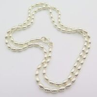 New Arrival Pure S925 Silver Necklace Man Woman's 3mm Oval Bead Link Lucky Chain