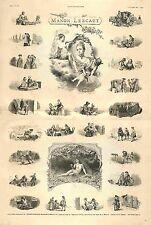 Histoire Manon Lescaut l'abbé Prévost Illustration Maurice Leloir GRAVURE 1885