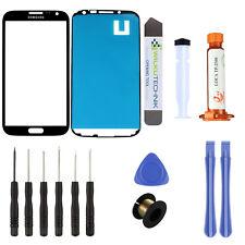 Samsung Galaxy Note 2 N7100/05 Glas LOCA Schwarz ● Display Scheibe + UV Kleber