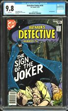 """Detective Comics # 476 CGC 9.8 WP Classic Cover """"The Sign of the Joker"""" DC, 1978"""
