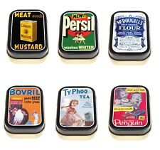 Vintage Household Brands 1/2oz Timeless Tin Trinket Pill Box Storage Keepsake