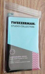 Tweezerman Unbreakable Mirror - Size is 9.1 x 5.5 x 0.3 cm.  Fits into purse.