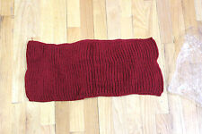 NO BRAND KNITTED INFINITY SCARF DEEP RED SOFT YARN  GOES TWICE AROUND THE NECK