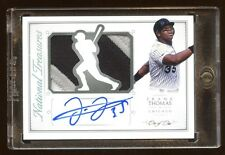 2015 NATIONAL TREASURES FRANK THOMAS 1/1 AUTOGRAPH AUTO JUMBO PATCH LOGO HOF WOW