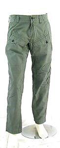 Jeans Uomo Pantaloni ENERGIE B662 Gamba Dritta Multitasche Grigio/Kaki Tg 33