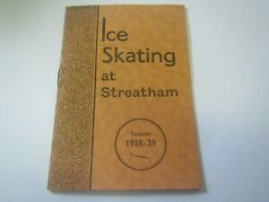 Vintage Program Ice Skating At Streatham Ice Rink London England Season 1938-39