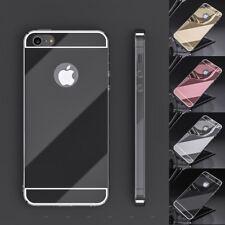 Funda gel para iPhone 5 5s y iPhone SE silicona goma TPU espejo + opción cristal