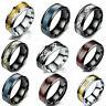 Fashion Carbide Celtic Dragon Tungsten Carbide Men's Wedding Band Rings 7-11MM #