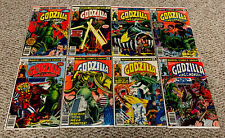 GODZILLA KING OF THE MONSTERS Comic Lot (Marvel Comics)  1-3, 10, 11, 13, 14, 22