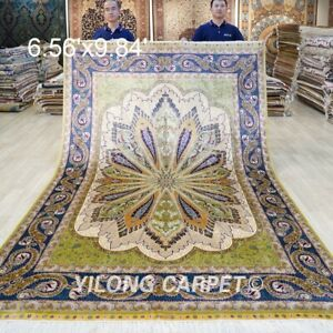 Collection Of 6.56x9.84ft Hand Knotted Area Rug Living Room Handmade Silk Carpet
