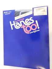 *Vintage Control Top Hanes Too Pantyhose Size C-D Classic Navy Sandalfoot