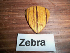 "Wood guitar pick ""Zebra wood""  by RobinsonWood Picks"