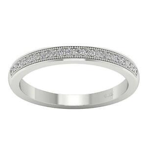 I1 G 0.25 Ct Natural Diamond Engagement Ring 14K White Gold Pave Set Appraisal