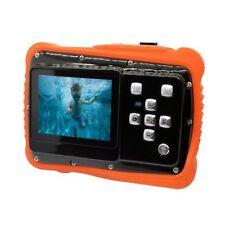 Orange Waterproof Hd720p 12mp LCD Compact Digital Camera for Kids Children
