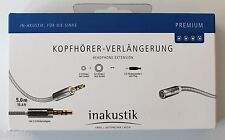 inakustik Premium II Kopfhörer Verlängerung Kabel Klinkenkabel 7,5 m / 004102075