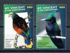 2017 St. Vincent & the Grenadines, birds, Hummingbirds, Parrots, 2 stamps, MNH