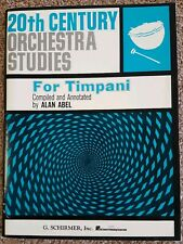 20th Century Orchestra Studies for Timpani Drum Music Book by Alan Abel