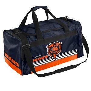 Chicago Bears Medium Striped Duffle Bag Core