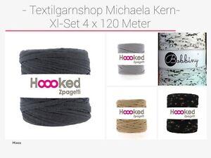 € 0,07/Meter Textilgarn XL-Sparset Häkeln Pouf Teppich Hoooked Zpagetti Hooked