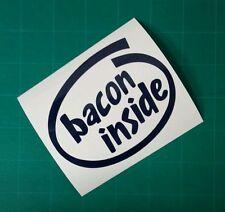 Bacon inside vinyl decal car truck food pig pork outdoor window sticker