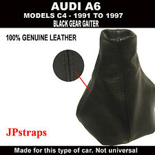 AUDI A6 (C4) 1991 - 1997 GEAR COVER GAITER 100% GENUINE BLACK LEATHER NEW
