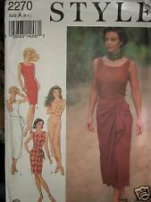Style UNCUT Pattern 2270 Fitted V Back Sleeveless Pencil Dress 8 10 12 14 16 18