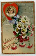 Floral Missives TUCK Valentine 11 Embossed PC UK Postally Used 1912
